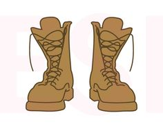 Combat Boots Army svg SVG DXF EPS cutting by ESIdesignsdigital