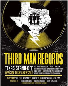 #JackWhite & his rolling record store showed up last year & he played some songs but this is the 1st ever showcase @ #SXSW. The Third Man Records Texas Show Down takes place @7:30 PM on Friday, March 16 @ The Stage on 6th. Wish me luck! Follow @ThirdManRRS on Twitter 4 updates where the record store will be at Southby!