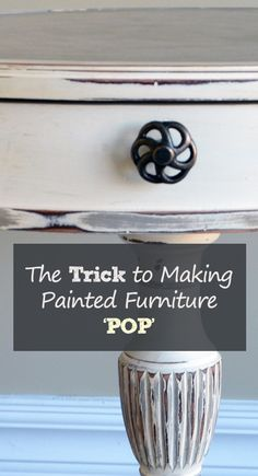 The Trick to Making Painted Furniture 'POP' Furniture can add color and texture inexpensively to a room that is otherwise plain. There are a few tricks to making your painted furniture really pop. Refurbished Furniture, Paint Furniture, Repurposed Furniture, Furniture Projects, Furniture Making, Furniture Makeover, Furniture Design, Antique Furniture, Furniture Refinishing