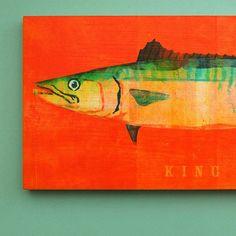 Saltwater Fish Series - The Big One Art Block - Pick the Print - 6.5 x 18- Beach Home Decor - Wall Art for Men via Etsy