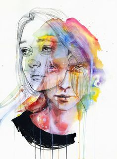 Agnes Cecile is the self taught artist behind this wonderful collection of watercolor portrait paintings. As well as watercolor she also uses acrylic, pen, ink and some Ap Studio Art, Watercolor Portraits, Watercolor Art, Agnes Cecile, L'art Du Portrait, Self Portrait Drawing, Portrait Ideas, A Level Art, Ap Art