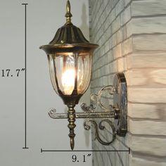 American Vintage Waterproof Wall Lamp Outdoor Lights Hallway Wall Lamp Balcony Wall Lamp