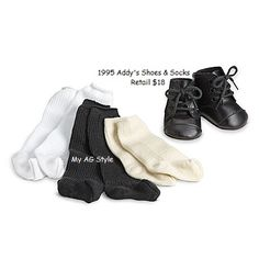 American Girl ADDY CREAM OFF-WHITE BIRTHDAY SOCKS Stockings Historical