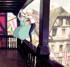 el castillo vagabundo howl y sophie