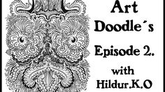 Art Doodles with Hildur.K.O Episode 2 #illustration  #drawing  #Watch me draw #doodles #patterns # lineart  #artwork