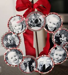 Great family photos deserve to be on display. Round up your loved ones into a crafty photo wreath for your home.