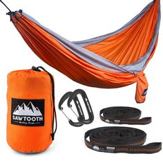 Gifts For The Outdoor Enthusiast : Ten Ideas That Will Make Anyone A Happy Camper//#1 Double Hammock with Straps and Carbiners Sawtooth Sporting Goods Double Hammock with Straps and Carbiners #rankandstyle