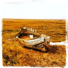 An old boat disregarded in Blakeney, Norfolk. Photography by Alex Barnes Old Boats, Great British, Norfolk, The Good Place, Places To Go, Coastal, England, Earth, Sunset