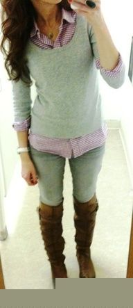 Sweater, skinny jeans and boots