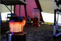 テントの中にいれればテント内がポカポカ。暖房器具として活躍します。