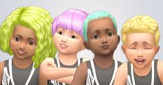 Pastel Toddler Hair RecolorsI feel like I've never recolored so fast in my life xD But here they are. All of the toddler hairs in my pastel palette. But unlike most of my uploads, these hairs aren't...
