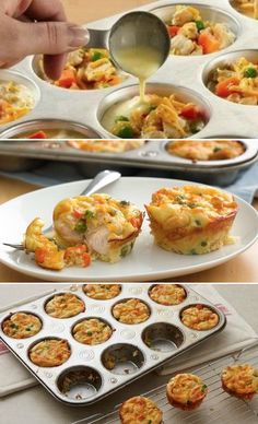 You are going to love these Amazing Muffin Tin Recipes and we have something for everyone. We've rounded up our favorites so you don't have to. Check them out now. Savory Muffins, Healthy Muffins, Mini Muffins, Bacon Muffins, Cupcake Pan Recipes, Muffin Pan Recipes, Mini Muffin Pan, Muffin Tins, Muffin Tin Meals