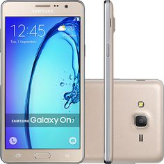 "Shoptime Smartphone Samsung Galaxy On7 Dual Chip Desbloqueado Android 5.1 Tela 5.5"" 8GB 4G - R$768,69"