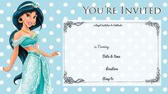 free printable princess jasmine disney birthday invitation bagvania invitations ideas birthday party invitations free