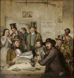 William Sidney Mount, 1850, California News