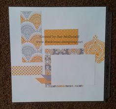 Eastern Elegance Scrapbook Layout, Beautifully Baroque Stamp, Beautifully Baroque Embossing Folder by Sue McDonald