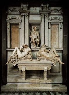 Michelangelo - Tomb of Giuliano de' Medici. I saw this in Rome while the church was under renovation.