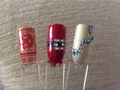 Shellac Christmas Nail Art ideas.