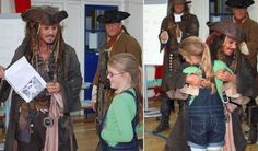Actors who give back- Johnny Depp shows up at a girl's school after she wrote Capt Jack to help her stage a mutiny.