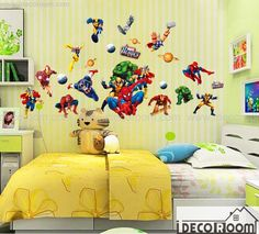 Super heroes Wall decals