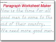 Automatic worksheets for D'Nealian handwriting practice. Includes sentence, single word, multi-word or paragraph worksheets.