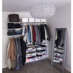 """To everyone that's been asking me about my wardrobe: it's the """"Algot System"""" from IKEA"""