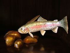 """Hand Carved Rainbow Trout · SWANKYZ """"GOOD GOODS"""" · Online Store Powered by Storenvy"""