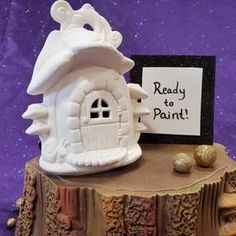Mushroom Snail Shack Fairy House Ceramic Bisque Ready to | Etsy Pottery Painting, Ceramic Painting, Pumpkin Fairy House, Ready To Paint Ceramics, Acorn Necklace, Autumn Fairy, Paint Your Own Pottery, Ceramic Bisque, Fairy Houses
