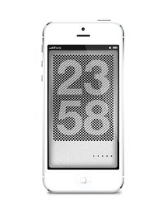 Dieter Ram inspired, dynamic lock screen watches for iPhone