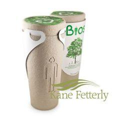 Bios est une urne biodégradable conçue pour transformer les cendres d'un défunt, humain ou animal, en arbre commémoratif