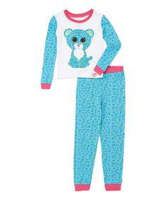 Look at this #zulilyfind! Blue Leona Pajama Set - Kids #zulilyfinds