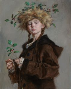 """Robert Liberace, """"Crowned with Holly"""" - 36x28, oil on linen --at Principle Gallery"""