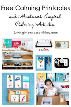 These free calming printables and Montessori-inspired calming activities are designed for preschoolers through first grade. The printables focus on a variety of breathing and yoga activities. Perfect for home or classroom - Living Montessori Now Addition Activities, Activities For Kids, Mindfulness For Kids, Mindfulness Activities, Sand Writing, Tracing Shapes, Calming Activities, Book Baskets, Peace Education