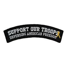 These Colors don't Run Brown on Yellow Bottom Rocker Iron on Patch for Biker Ves