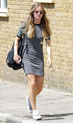 Back to the theatre: Cressida Bonas looked casual and cool as she made her way to a matine...
