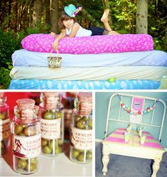Princess and the Pea birthday party... BEAUTIFUL!!