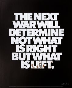 Politically charged anti-war poster. Lubalin both designed the poster and wrote the text for an AIGA exhibition called 'Survival'. According to Ed Benguiat, the cockroaches were frozen in order to get the shot. Here shown in recreated poster format. Date: 1972.