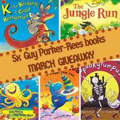 Up for grabs in my March giveaway is fantastic picture books illustrated by Guy Parker-Rees. Enter now for your chance to win. Books New Releases, Competition, March, Picture Books, Cool Stuff, Guys, Children, Giveaways, Cover