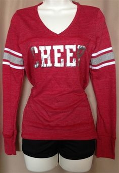 Red Cheer Varsity Long-sleeve Shirt by Empire Cheer, $25.00 #cheer #cheergear #cheerleading