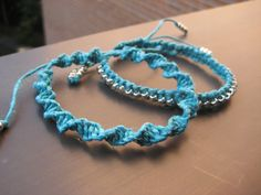 Turquoise Twinset - Two Stackable Turquoise Blue Bracelets