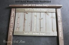 COUNTRY GIRL HOME : How to make a solid wood Twin headboard (college apartment bedrooms headboard) Girls Headboard, Country Headboard, Headboard Ideas, Diy Rustic Headboard, Rustic Bedding, Twin Bed Headboards, Diy Full Size Headboard, Twin Beds, Diy King Headboard