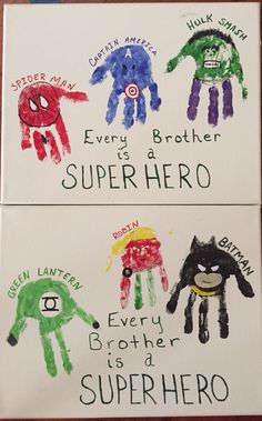 Superhero handprints Every Brother is a Superhero