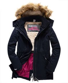 Shop Superdry Womens Microfibre Tall Windparka Jacket in Navy. Buy now with free delivery from the Official Superdry Store. Long Jackets, Winter Jackets, Superdry Jackets, Outerwear Jackets, Mens Down Jacket, Leather Jacket, Navy, Stuff To Buy, Clothes