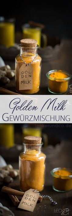 Golden Milk Spice mixture for Golden Milk Tumeric Latte, Turmeric Tea, Vegetable Drinks, Milk Recipes, Spice Mixes, Diy Food, Pesto, Spices, Food And Drink