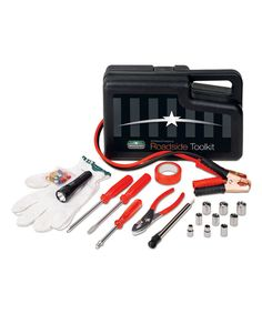 This 33-Piece Roadside Toolkit by SmartWorks is perfect! #zulilyfinds