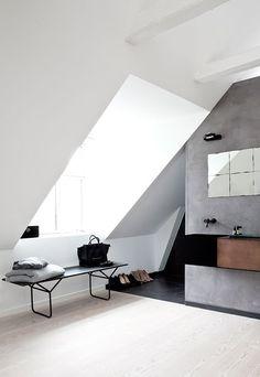 Copenhagen townhouse bathroom - via cocolapinedesign.com