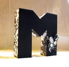 Card Box Mod Podge Monogram