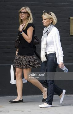 Prince Harry'S Girlfriend Chelsy Davy Shops On Kings Road With Her Mother Beverley In Central London..
