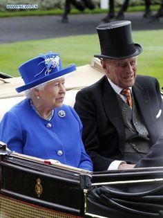 British Queen Elizabeth II attends Royal Ascot