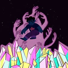 Steven and the Cluster - SU Steven Universe, Universe Art, Adventure Time, Peace And Love, Geek Stuff, Sketches, Animation, Fan Art, Abstract